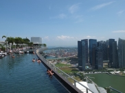 The Marina Bay Sands hotel is famous for this rooftop pool