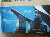 David Beckham is a spokesperson for Marina Bay Sands Hotel