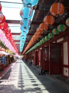 Outside the temple in Singapore's Chinatown