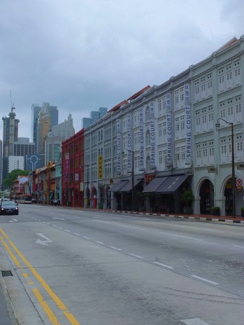 Walking from Chinatown to Clarke Quay