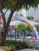 The start/finish line for a run at the SEA Games Singapore 2015