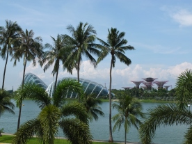 Walking around the grounds of the Singapore Flyer