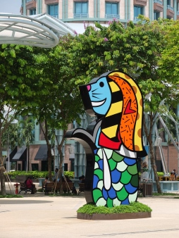 A fun version of Singapore's mascot, the Merlion.
