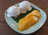 Sticky rice with mango from Thai Express.