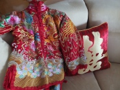 My cousin's traditional outfit worn for the tea ceremony the morning of her wedding.