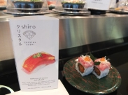 Shiro is known for their Crystal Sushi, which incorporates flavoured jellies with the sushi