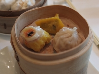 Dim sum at the Crystal Lotus restaurant inside the Hong Kong Disneyland Hotel