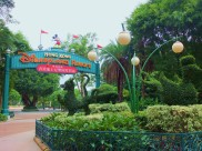 The grounds outside the Hong Kong Disneyland Hotel