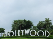 The grounds outside Disney's Hollywood Hotel. This makes up the lack of a photo of the real Hollywood sign when I was in L.A. this February.