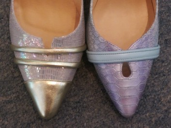 The shoe samples I loved so much that I had pairs custom made for me!