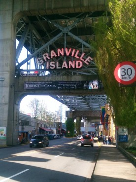 Leaving Granville Island.