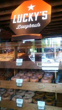 Stopped into 49th Parallel on Main for some Lucky's Doughnuts!
