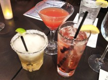 Our drinks for the evening: Golden Margarita, Grand Phoenix and Lavender Blueberry Collins.