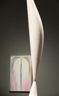 Grey Line with Lavender and Yellow by Georgia O'Keefe with Bird in Space by Constantin Brancusi