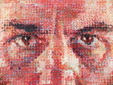 Close-up of Lucas I by Chuck Close