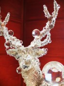PixCell-Deer#24 by Kohei Nawa; a taxidermied deer covered in marbles