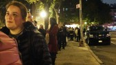 The crazy long line to get into The New Yorker talk