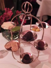 The complimentary chocolate tray