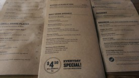 The daily drink specials and menu.