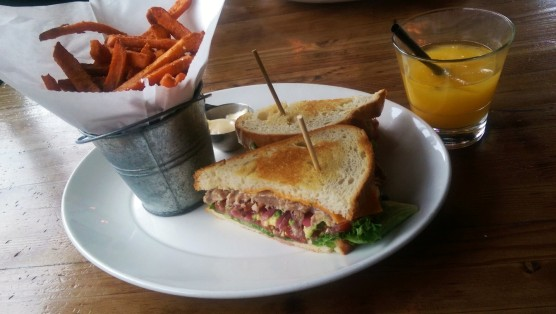 The tuna club sandwich.