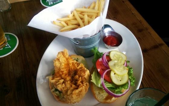 The crispy chicken sandwich.