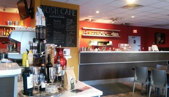 The interior of Nosh Cafe's new 124 Street location.