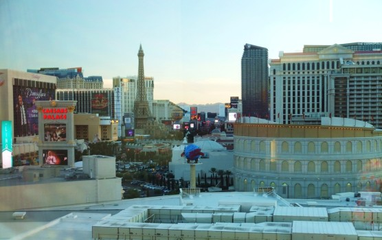 Our view of the Strip from our room window