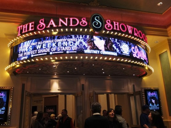 The marquee at the Sands Showroom advertising Lipshtick