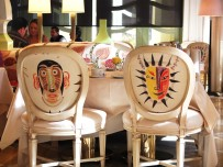 Fun chairs are part of the decor at Tableau