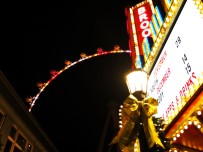 Brooklyn Bowl marquee and the High Roller