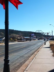 "Stopped for gas before reaching the Grand Canyon; Williams, the ""Gateway to the Grand Canyon"""