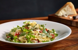 Confit Chicken & Pancetta Fettuccini. Photo from Earls site.