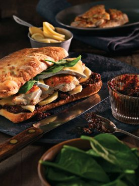 Chicken, Brie & Fig Sandwich. Photo from Earls site.