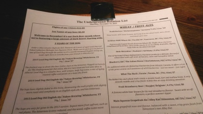 The beer list is extensive and informative.