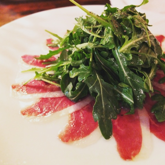 Smoked Duck Carpaccio
