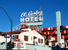 The El Cortez Hotel during the day. I love the colours and the style of building.
