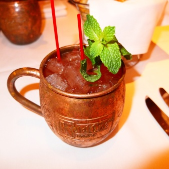 The Moscow Mule cocktail from Portofino.