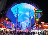 On Fremont Street. Check out the zip lines above.