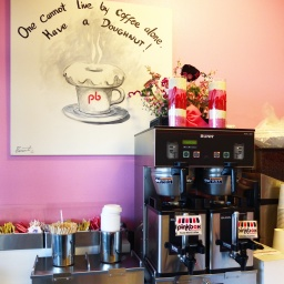 The coffee zone of Pink Box.