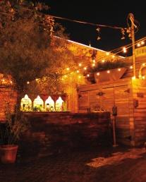 The patio bar.