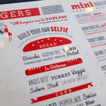 Part of the menu at Cafe 6.