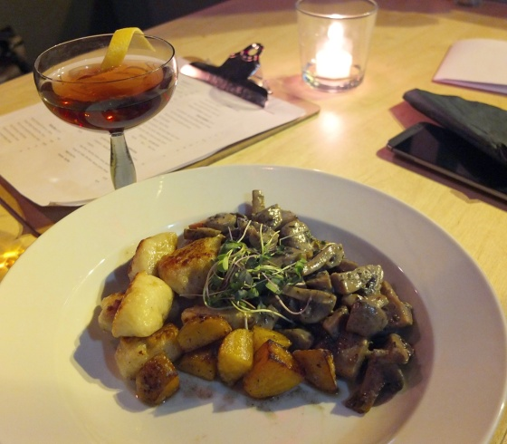 Mushroom Ragu with Truffle Gnocchi and Seasonal Vegetables