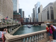 There are so many bridges that span the Chicago river.