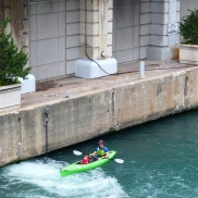 You can even kayak in the Chicago river.