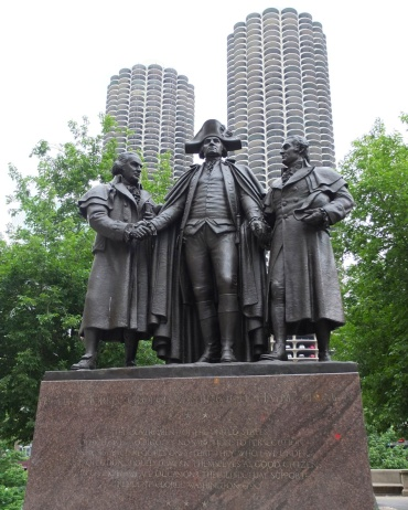 One of many statues found in Chicago. Use can even use your smartphone to hear some of the history behind many of them.