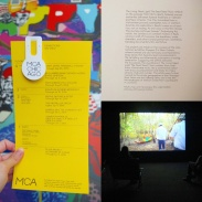 The Museum of Contemporary Art's program, including work by The Propeller Group.