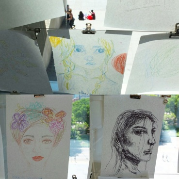 Art created by patrons of the Museum of Contemporary Art. Such talent!