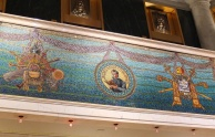 One of the uncovered tiled mosaics in the Marquette Building.