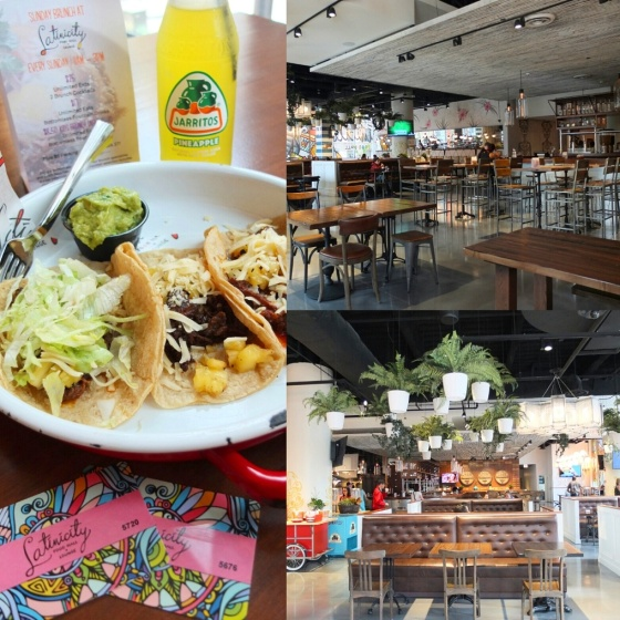Inside the Latinicity food hall. Pretty good tacos!