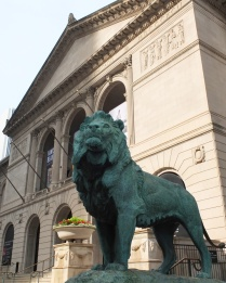 I fondly call the lions in NYC the Library Lions. I'm not sure what to call these ones at The Art Institute.
